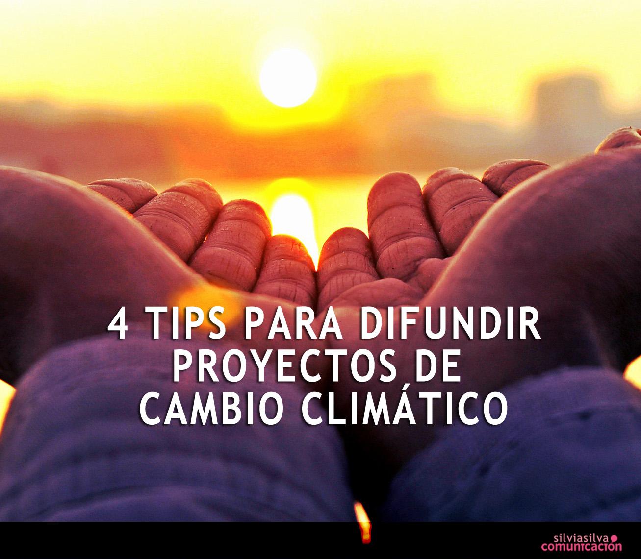 comunicación sobre cambio climático