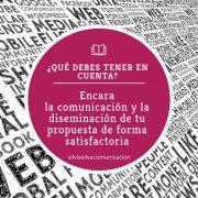 comunicación y diseminación propuesta I+D